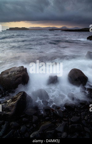 Wild conditions looking across Loch Bracadale from Ardtreck Point, Isle of Skye, Scotland