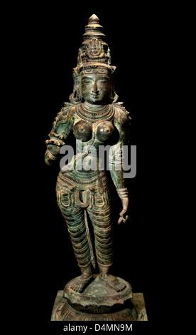 Sivakamasundari (Shiva)10th Century AD Jambavanodai Thanjavur  India Hindu Bronze statuette - Stock Photo