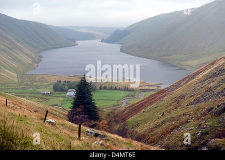 Talla reservoir, near Tweedsmuir in the Scottish Borders - Stock Photo
