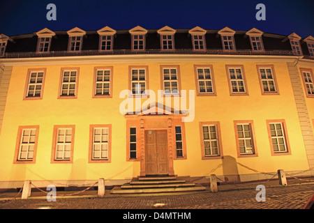 Germany, Thuringia, Weimar, Goethe's House, dusk, UNESCO World Heritage Stock Photo