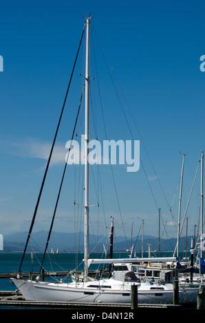 Yachts and boats mooring in a Marina - Stock Photo