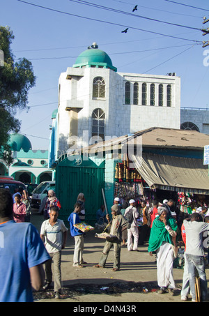 Mosque in addis ababa Ethiopia Africa - Stock Photo