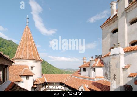 Bran Castle (Castelul Bran) - Count Dracula's Castle, Braşov, Wallachia, Romania - Stock Photo