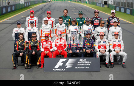 Motorsports: FIA Formula One World Championship 2013, Grand Prix of Australia,  all drivers - alle Fahrer,  first - Stock Photo