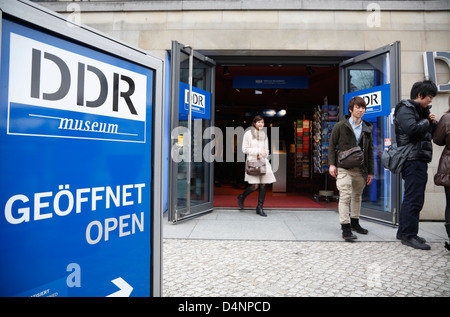 Entrance of DDR-Museum at the Spree, Berlin, Germany - Stock Photo