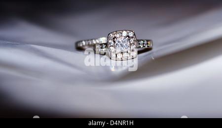 beautiful diamond ring - Stock Photo