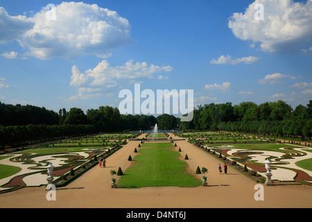 Garden at Charlottenburg Palace, Berlin, Germany - Stock Photo