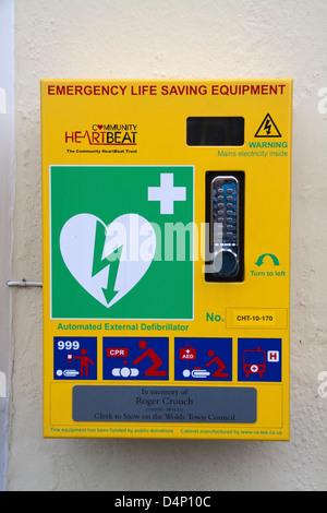 Automated External Defibrillator - Stock Photo