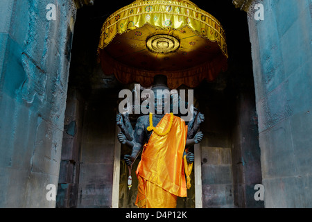 Kali Statue, Angkor Watt, Cambodia - Stock Photo