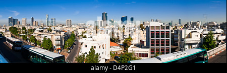 Tel-Aviv, viewed from above,the buss station,in the midle of the city Contrast between towers and poor buildings - Stock Photo