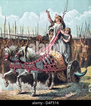 Boudica, Boadicea, Boudicca leader of the rebellion against the Romans - Stock Photo
