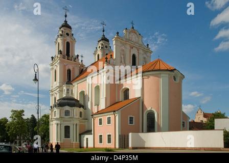 St Catherine's Church, Vilnius, Lithuania - Stock Photo