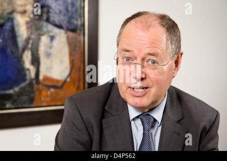 Berlin, Germany, SPD chancellor candidate Peer Steinbrueck - Stock Photo