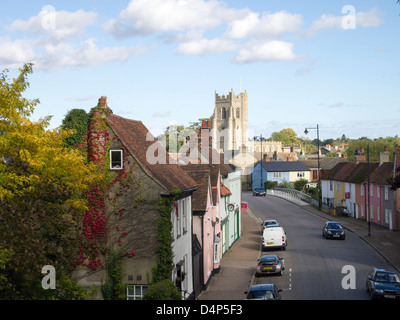 A view of Ballingdon Street, leading in to Sudbury, Suffolk, England. - Stock Photo