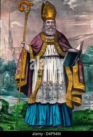The Apostle of Ireland - St. Patrick - Stock Photo