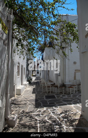 Street on Paros island in the Cylcades (Greece) - Stock Photo