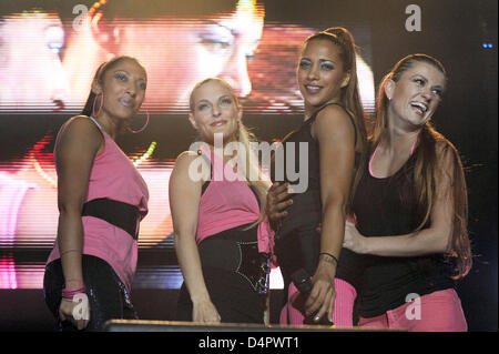 German pop band No Angels with (L-R) Jessica Wahls, Sandy Moelling, Nadja Banaissa and Lucy Diakowska perform at - Stock Photo