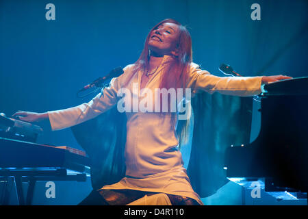 US musician Tori Amos performs in Munich, Germany, 14 September. The Munich concert kicked off Amos?s Germany tour - Stock Photo