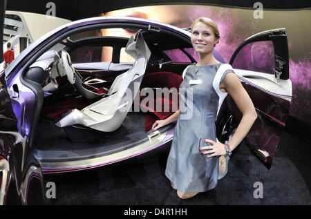The study of a Citroen ?revolt? is presented at the International Motor Show in Frankfurt, Germany, 16 September - Stock Photo