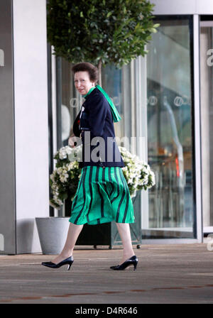 British Princess Anne arrives for the opening ceremony of the 121st IOC session at the Opera House in Copenhagen, - Stock Photo
