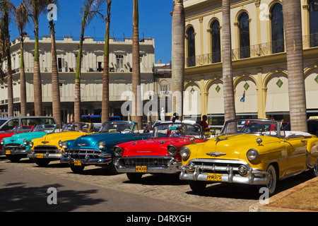 Colorful Old American Taxi Cars In Havana Cuba Stock Photo