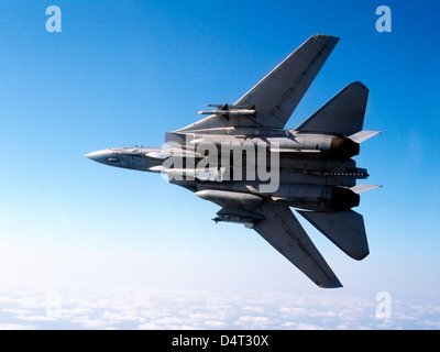 An F-14A Tomcat with missile armament. - Stock Photo