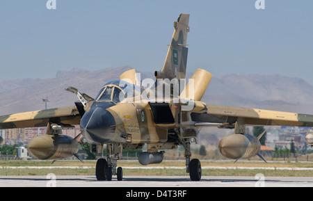A Panavia Tornado IDS of the Royal Saudi Air Force during Exercise Anatolian Eagle 2012, Konya Air Base, Turkey. - Stock Photo