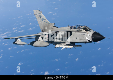 An Italian Air Force Tornado IDS armed with AGM-88 HARM missiles. - Stock Photo