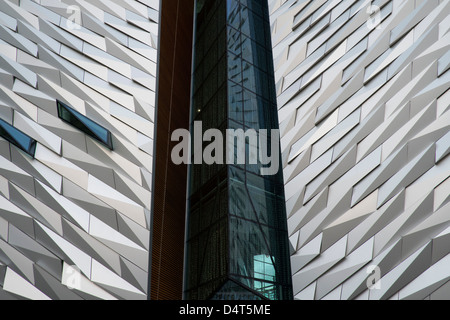 A view of the Titanic museum in Belfast. - Stock Photo