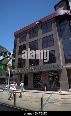 Andorra la Vella, Andorra, branch of the private bank Banca Privada d'Andorra - Stock Photo