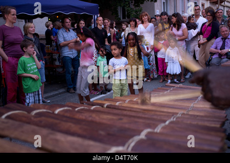 Freiburg, Germany, visitors at the Multicultural Festival in Freiburg Suedwind - Stock Photo