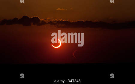 Annular solar eclipse of 2012. - Stock Photo