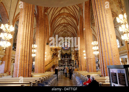 Interior view of Storkyrkan Church in Stockholm, Sweden, 21 November 2009. The wedding of Crown Princess Victoria - Stock Photo