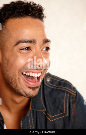 Close up of man's smiling face - Stock Photo