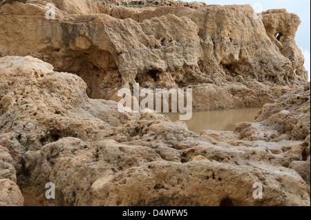 Algar Seco Carvoeiro Algarve Portugal Europe early March 2013 - Stock Photo