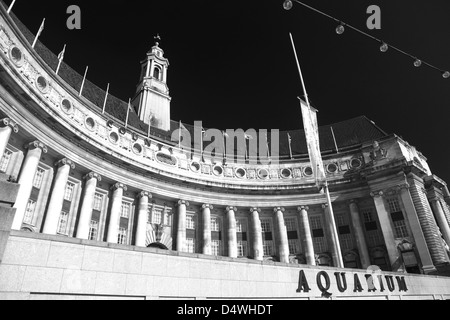 London Aquarium, South Bank, River Thames, Westminster, London City, England, UK - Stock Photo