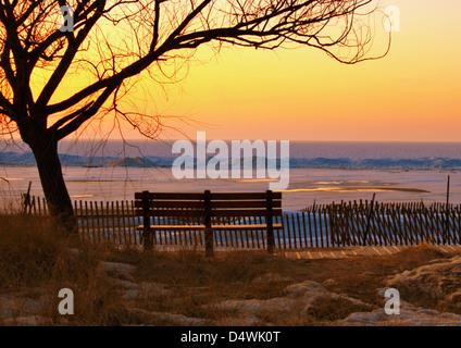 Sunset at the Beach. - Stock Photo