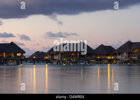 evening bungalows - Stock Photo