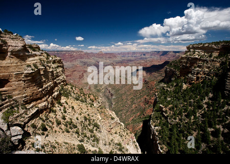 Grand Canyon as seen from Pipe Creek Vista on the South Rim, Arizona, USA. - Stock Photo