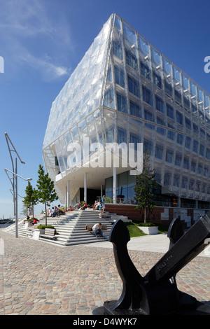 Hamburg, Germany, the Unilever building in HafenCity - Stock Photo