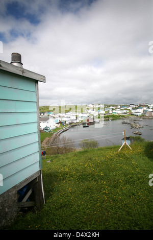 The Town of Channel-Port Aux Basques, Newfoundland. The Canadian Press Images/Lee Brown - Stock Photo