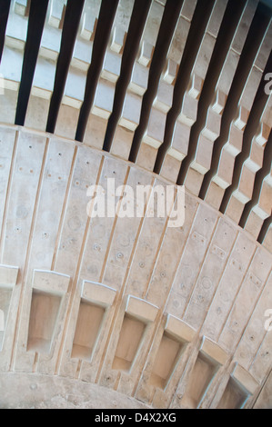 Sydney Opera House, Australia. Interior view of the prefabricated roof structure. - Stock Photo