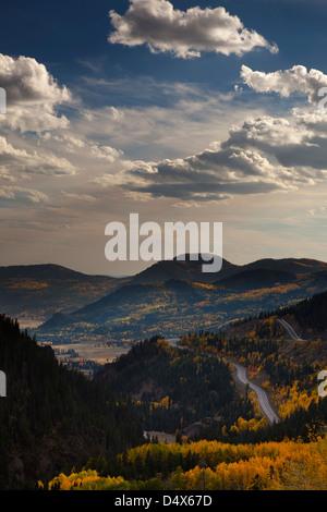 San Juan mountain range in, Autumn, fall colors, Colorado - Stock Photo