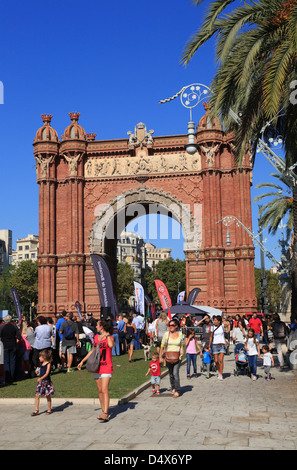 Arc de Triomf, Barcelona, Spain - Stock Photo