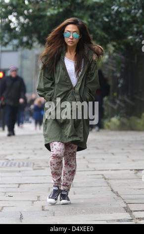 London, UK, 20th March, 2013: Myleen Klass seen out and about in Highgate, North London. Credit: WFPA / Alamy Live - Stock Photo