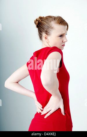 teenage girl with back pain stock photo 16154659  alamy