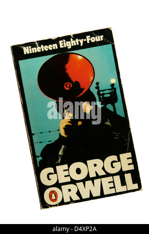 A copy of 'Nineteen Eighty-Four' by George Orwell. - Stock Photo