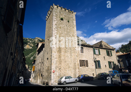Old medieval town, Villefranche de Conflent, Eastern Pyrenees, Languedoc-Roussillon, France - Stock Photo