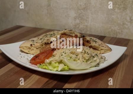 Variation of popular Balkan fast food cevapi or cevapcici. - Stock Photo