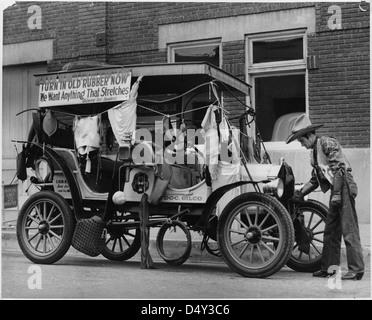 Scrap Rubber Drive ca. 06/15/1942 - Stock Photo